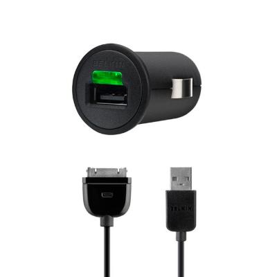 Carregador de isqueiro USB Belkin 1.0A + Cabo 30 Pinos