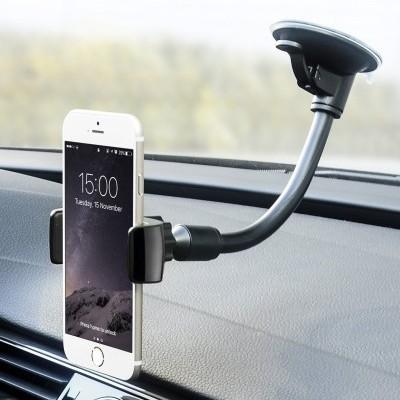 Suporte para automóvel 360º Universal com ventosa e braço flexível