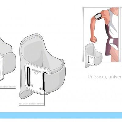 Sports Armband Universal / Bolsa Desportiva - Preto
