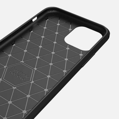 iPhone 11 Capa Silicone Carbono Híbrida