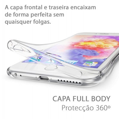 iPhone 6/6S Capa 360º Silicone Transparente