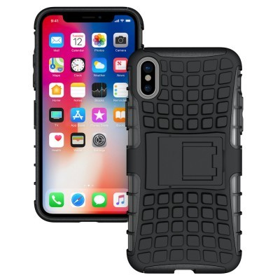 iPhone XS Max Capa Híbrida Stand Anti-Shock