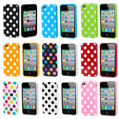 iPhone 4/4S Capa Dots Silicone