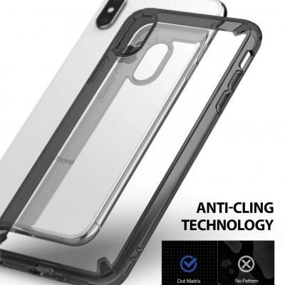 iPhone XS Max Capa Ringke Fusion PC + Bumper TPU