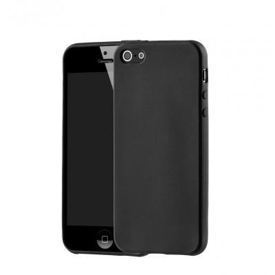 iPhone 5/5S/SE Capa Fina Silicone Preto Mate