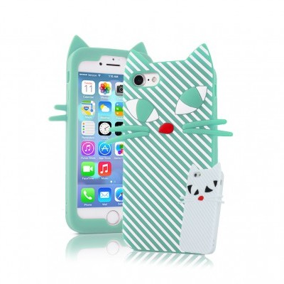 iPhone 7/8 Capa 3D Silicone Kitten