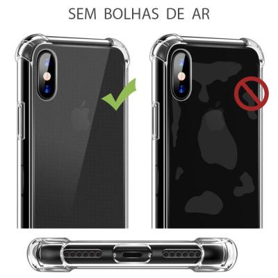 iPhone X/XS Capa Silicone Anti-Shock 100% Transparente