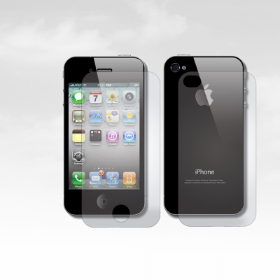 Películas de Protecção Frente e Trás 100% Transparentes iPhone 4/4S