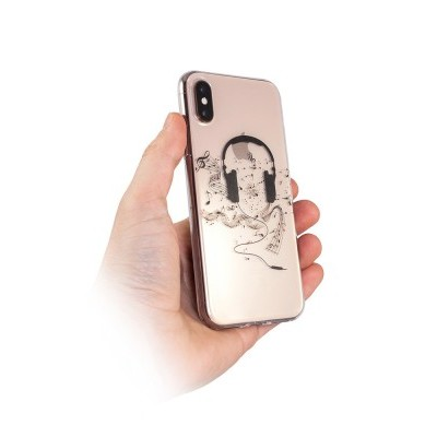iPhone XR Capa Music Silicone Transparente
