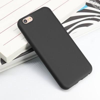 iPhone 6/6S Plus Capa Fina Silicone Preto Mate