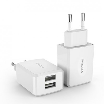 Adaptador de Corrente Proda 2x USB Linshy Pro