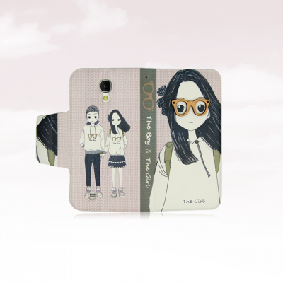 iPhone 4/4S Capa The Girl & The Boy Flip