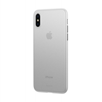 iPhone XS Max Capa Ultra Fina Baseus Wing - Transparente Mate