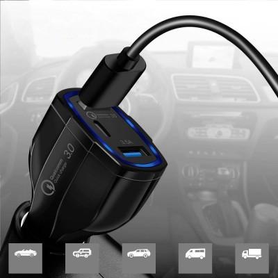 Carregador de isqueiro Wozinsky 2x USB + USB-C QC3.0