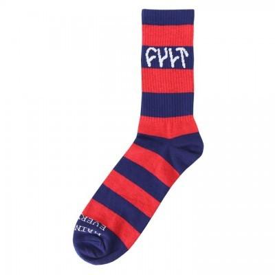 Cult - Stripe Socks / red