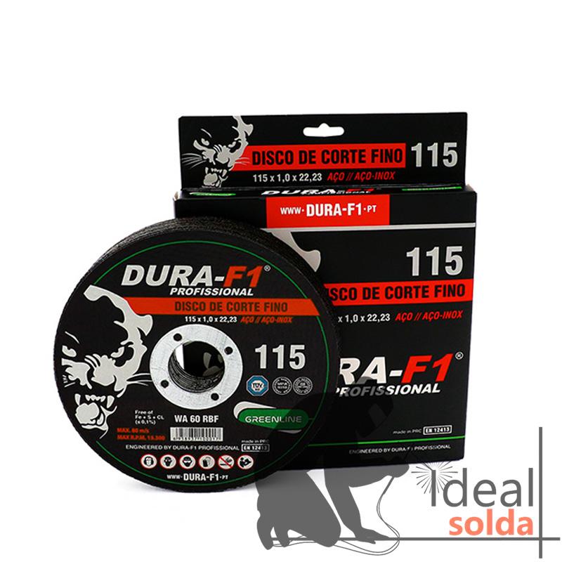 10 Discos de Corte 115x1mm para Aço e Inox