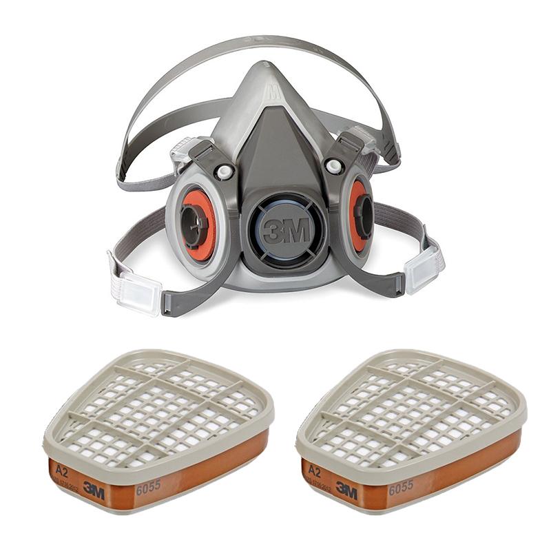 3M Máscara Respiratória Reutilizável 6000M com Filtros A2 6055