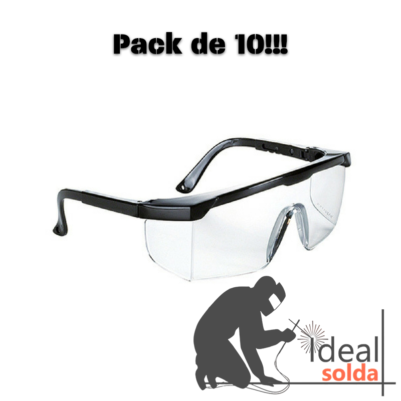 Óculos de Proteção Transparentes - Pack de 10