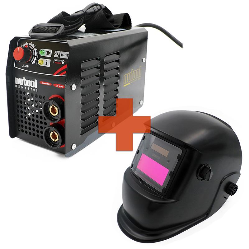 Nutool Aparelho Inverter de Soldar Eletrodos MMA 140 AMP + Máscara Automática