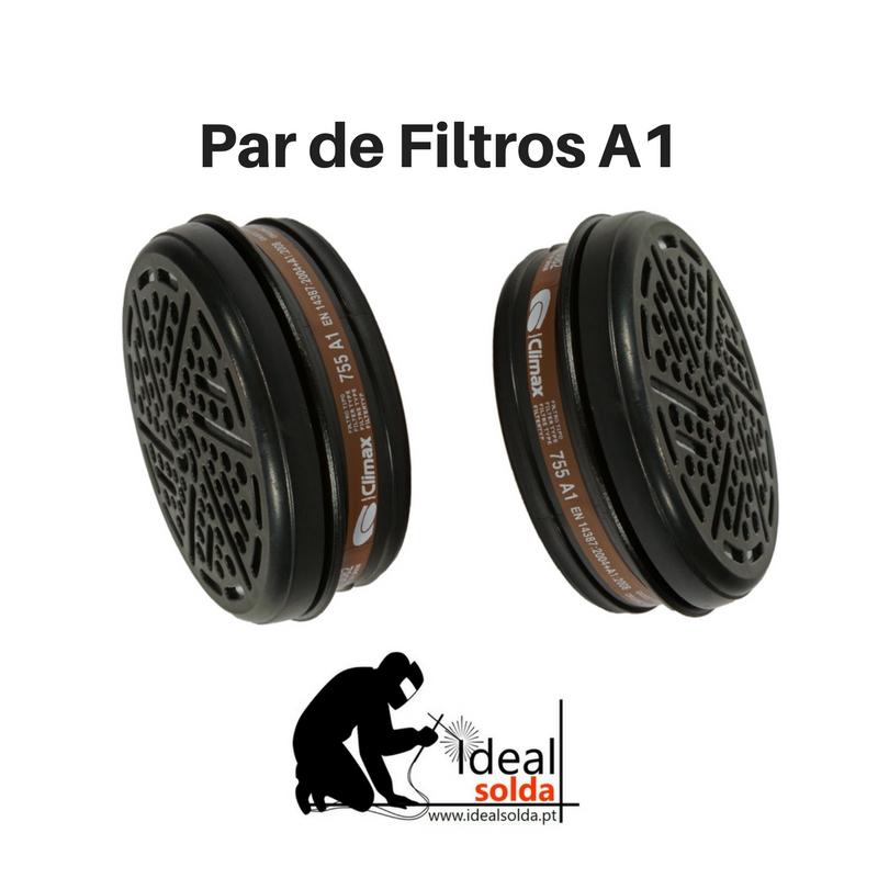 CLIMAX Par de filtros A1 para máscara respiratória modelo 755
