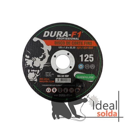 10 Discos de Corte 125x1mm para Aço e Inox
