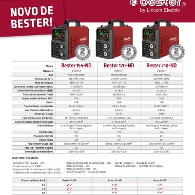 LINCOLN ELECTRIC Máquina Soldar Inverter BESTER 210-ND