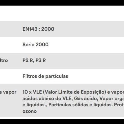 3M Máscara Respiratória Reutilizável 6000M com Filtros P2 2128
