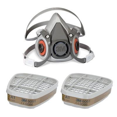 3M Máscara Respiratória Reutilizável 6000M com Filtros A1 6051