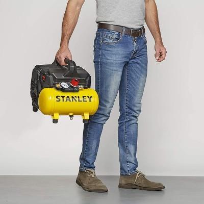 Stanley Compressor Sem Óleo Silencioso DST 1CV 6L 8Bar