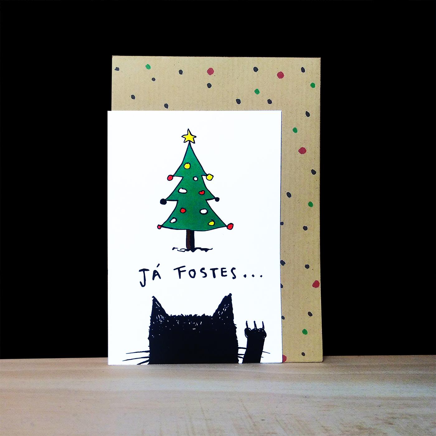 """cartão de natal """"Já FOSTES..."""""""