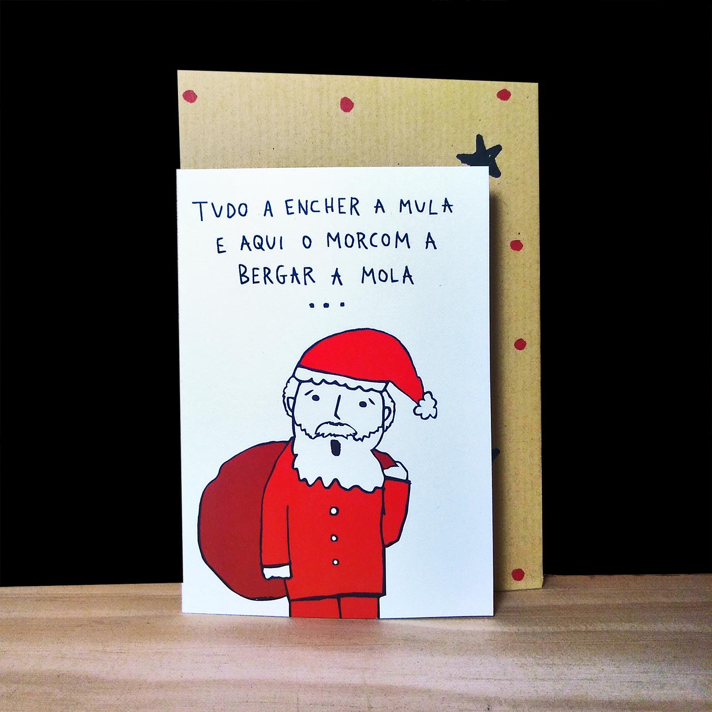 """Cartão de Natal """" Pai Natal"""""""