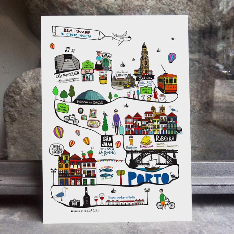 ilustração Made in Porto
