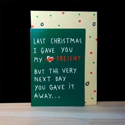 """Cartão de Natal """"last Christmas"""""""