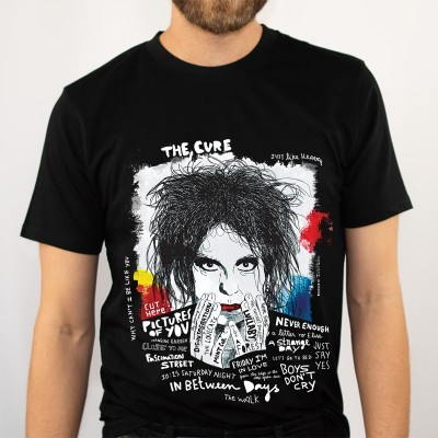 TSHIRT THE CURE ( black edition) unisexo/senhora