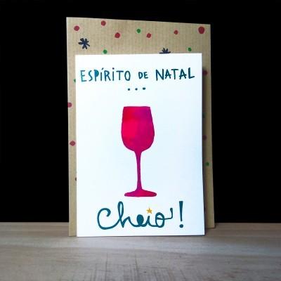 """Cartão de Natal """"Espírito cheio"""""""