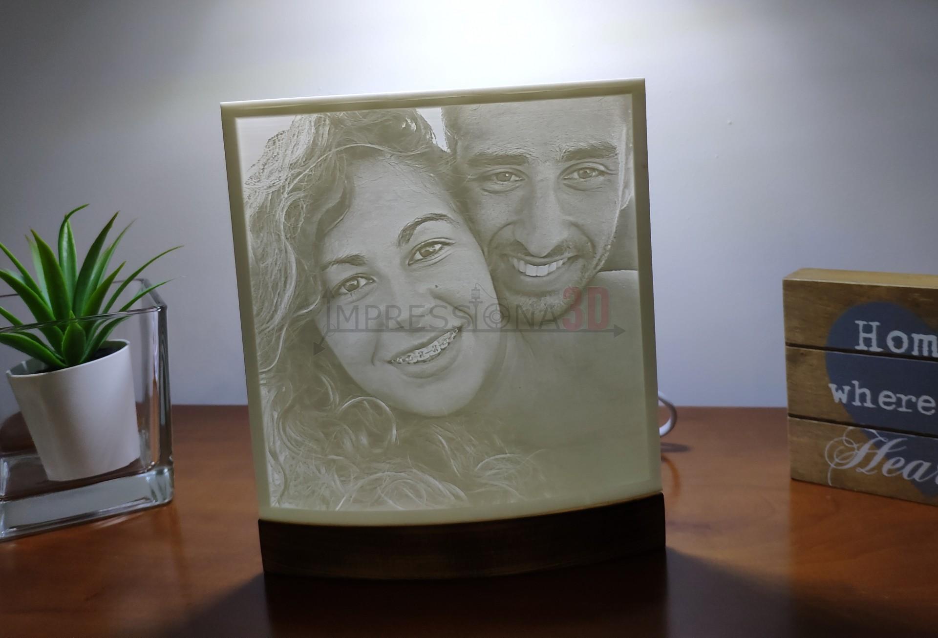 Candeeiro Foto 3D (iluminação 220V)