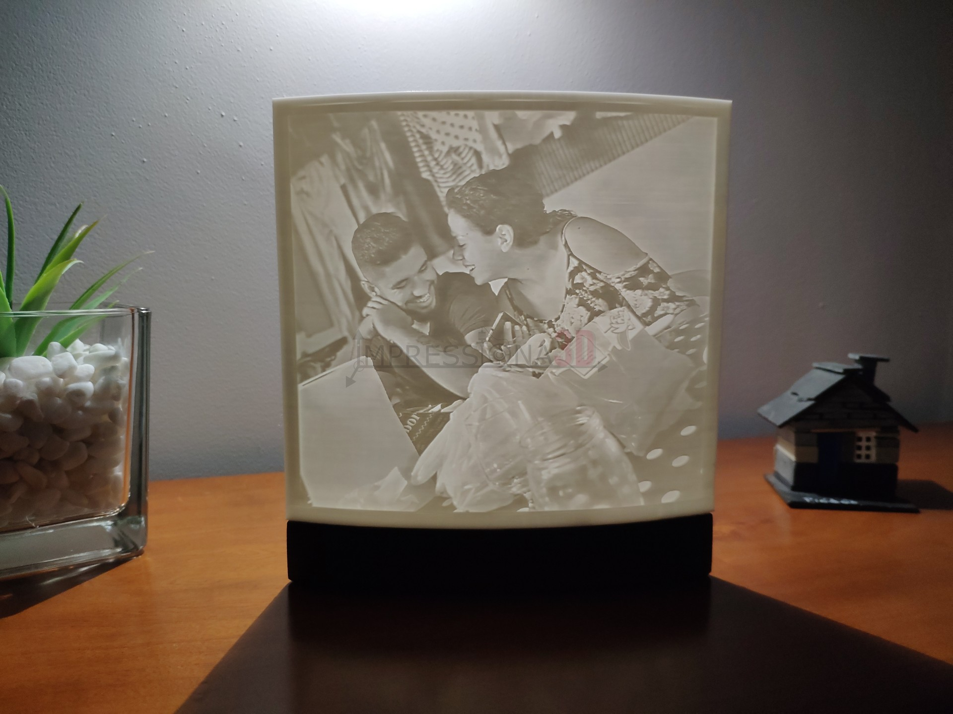 Candeeiro Foto 3D (iluminação a pilhas)