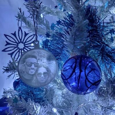 PACK NATAL - 4 Medalhas Foto 3D para a Árvore