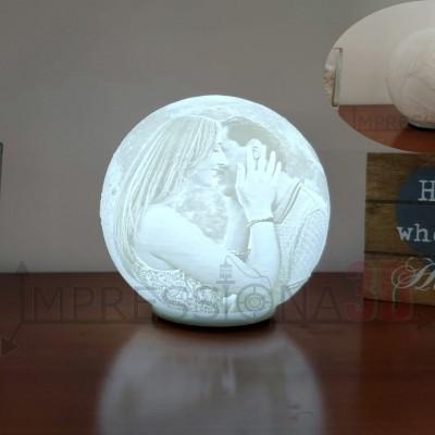 Lua Foto 3D - (iluminação a pilhas)