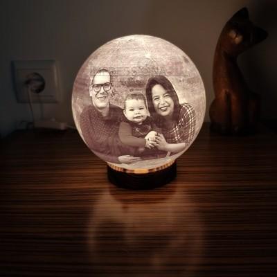 Lua Candeeiro Foto 3D - (iluminação 220V)