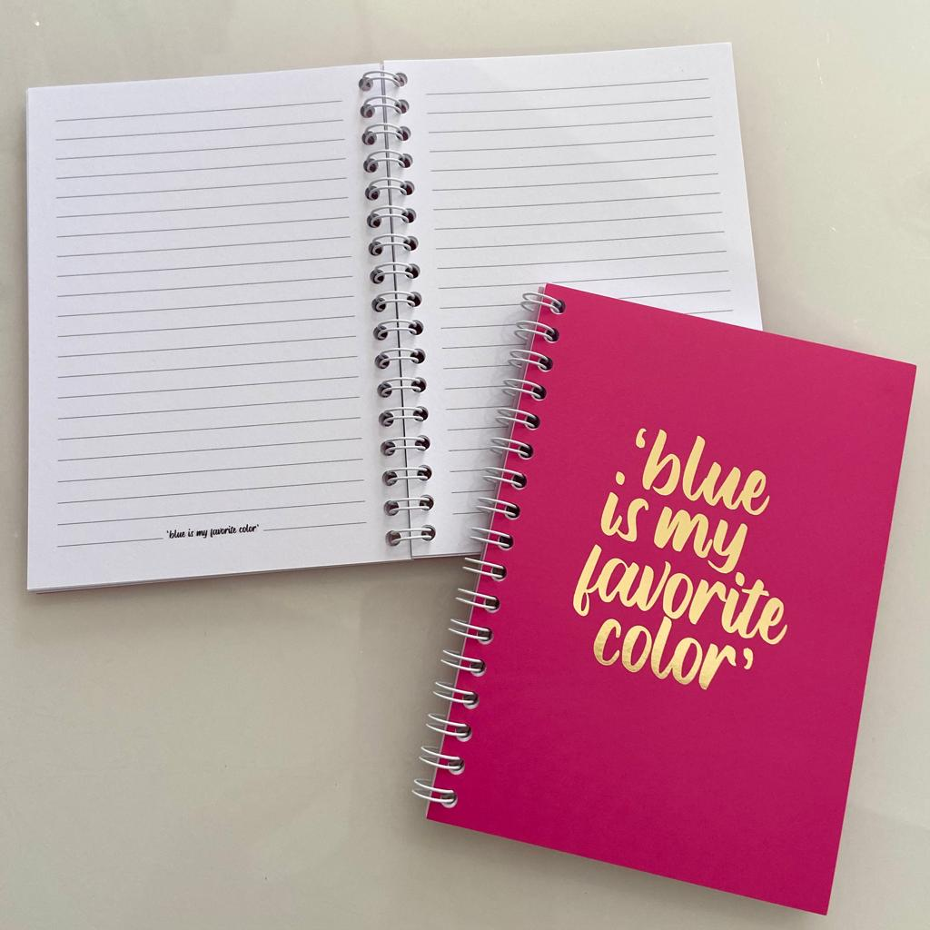 "Caderno A6 ""blue is..."""