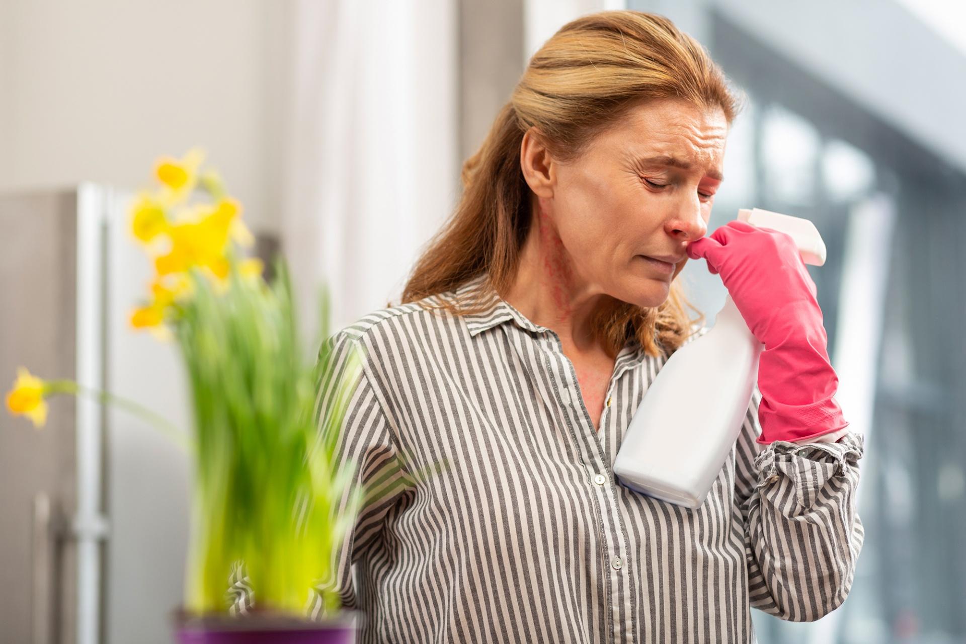 alergia nas limpezas de casa