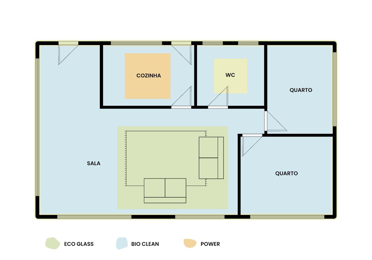 planta de casa para optimizar limpezas