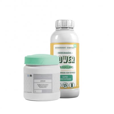 Kit WC - Desengordurante 1L + Lixívia sem cheiro 200 uni