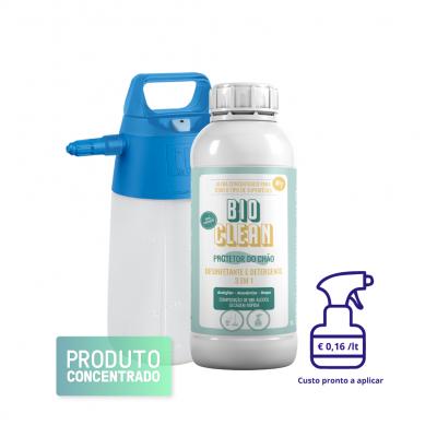 Desinfetante Detergente Chão e Superfícies BIOCLEAN com pulverizador Nebu alk 1