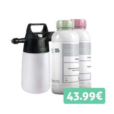 Kit casa - Desengordurante 1L + Limpa vidros 1L + Pulverizador