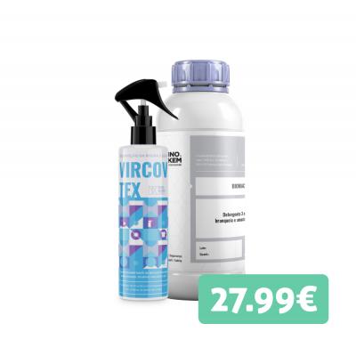Kit roupa - Detergente de roupa Bio 1L + Desinfetante de roupa 1L