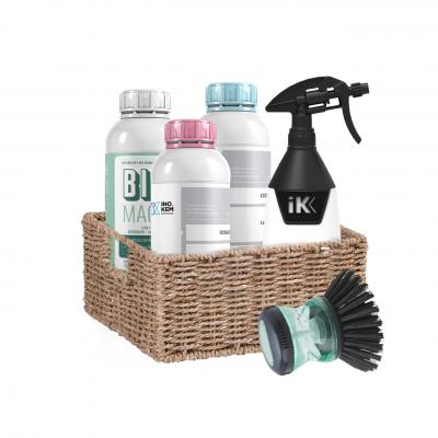 Cesta ecológica *** Oferta de cesta *** - detergente de roupa, detergente de loiça, tira bolores e calcários