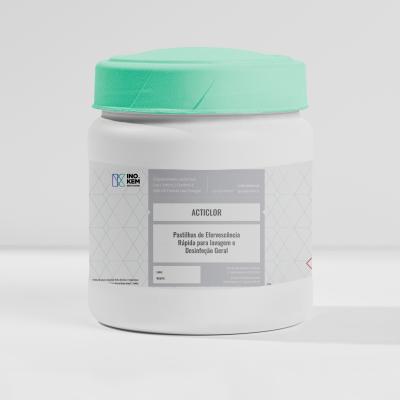 Pastilhas efervescentes lixívia sem cheiro - Acticlor 200 uni