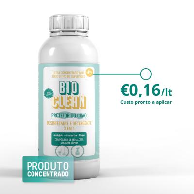 Desinfetante Detergente Pavimentos e Superficies 1L   Bio clean